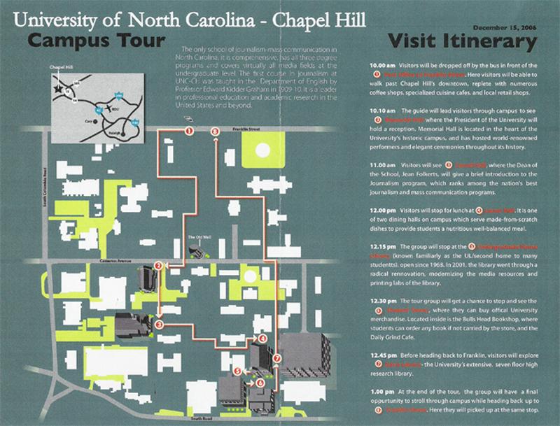 Unc Campus Tour Map Unc-ch Tour Map